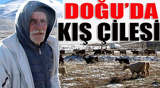 Doğu´da hayvancılıkla geçimini sağlayanların kış çilesi