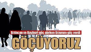 Erzincan ve Bayburt göç alırken Erzurum göç verdi