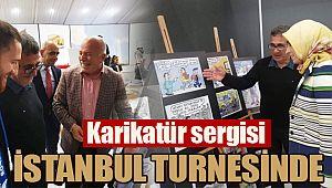 Karikatür sergisi İstanbul turnesinde