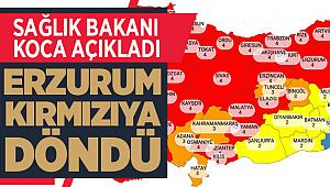 Erzurum kırmızıya döndü