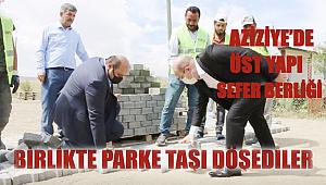 Aziziye'nin mahallelerinde üstyapı seferberliği