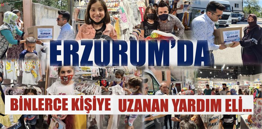 Erzurum'da Binlerce kişiye uzanan el...