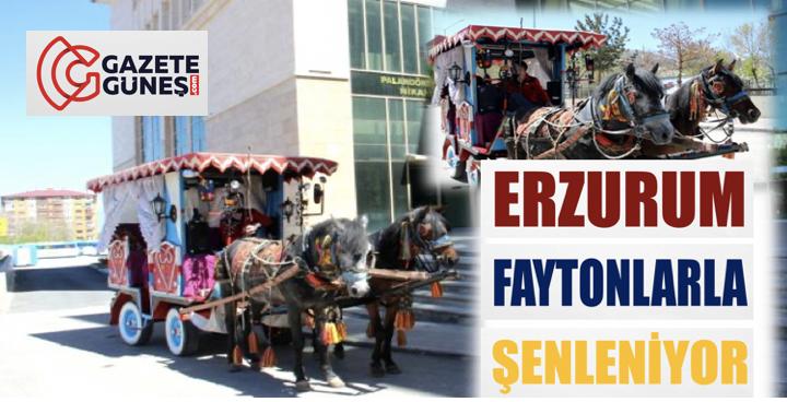 Erzurum faytonlarla şenleniyor