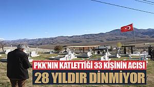 PKK'nın katlettiği 33 kişinin acısı 28 yıldır dinmiyor
